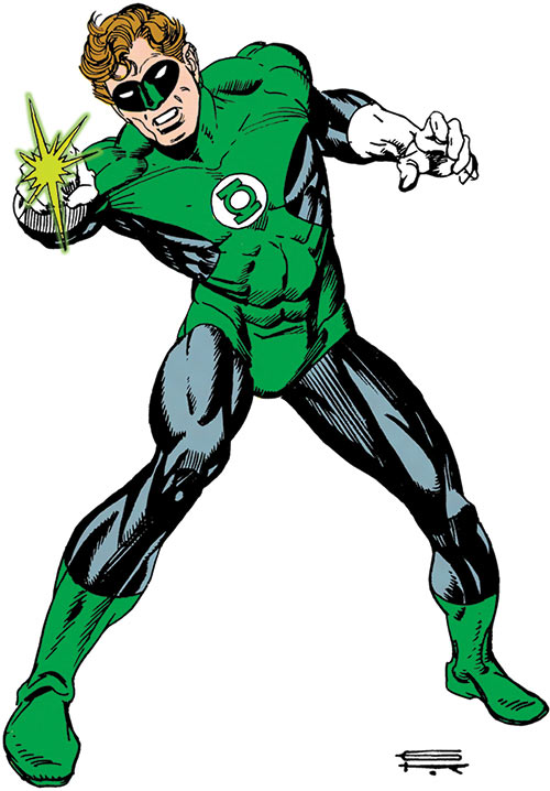 Green Lantern Hal Jordan (DC Comics) from the Who's Who by Gil Kane