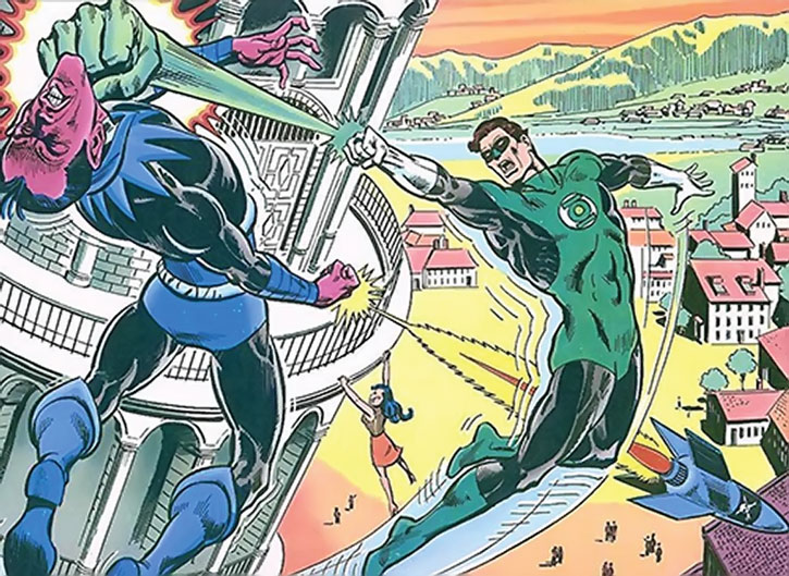 Green Lantern vs. Sinestro in Italy