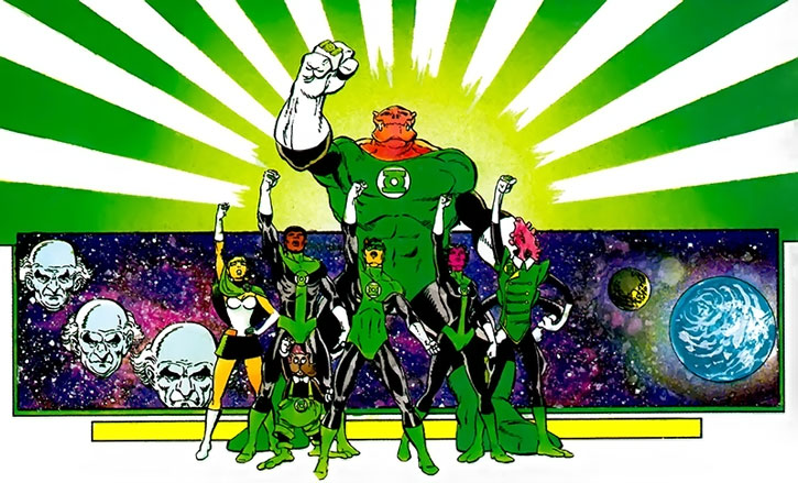 Green Lantern Corps on Earth during the 1980s