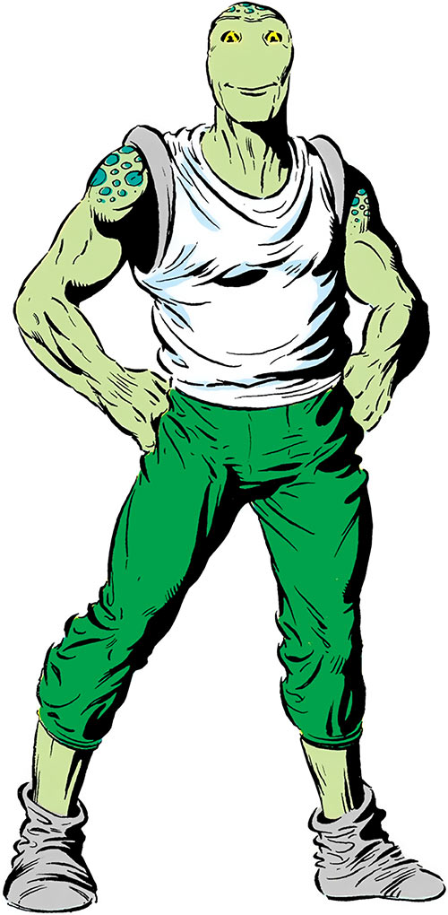 The Green Man (DC Comics) over a white background