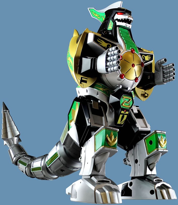 Green Ranger (Tommy Oliver) of the Mighty Morphin' Power Rangers - the Dragon Zord