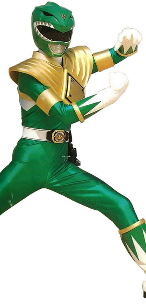 Green Ranger (Tommy Oliver) of the Mighty Morphin' Power Rangers karate pose