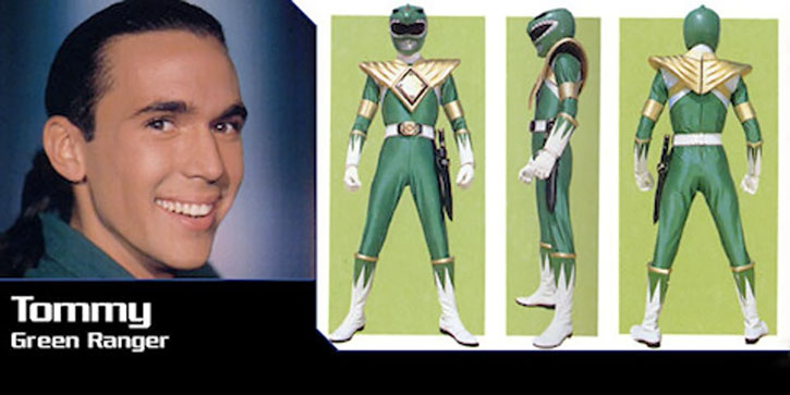Green Ranger (Tommy Oliver) of the Mighty Morphin' Power Rangers - banner