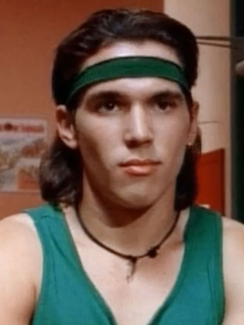 Green Ranger (Tommy Oliver) of the Mighty Morphin' Power Rangers - Jason David Frank with headband
