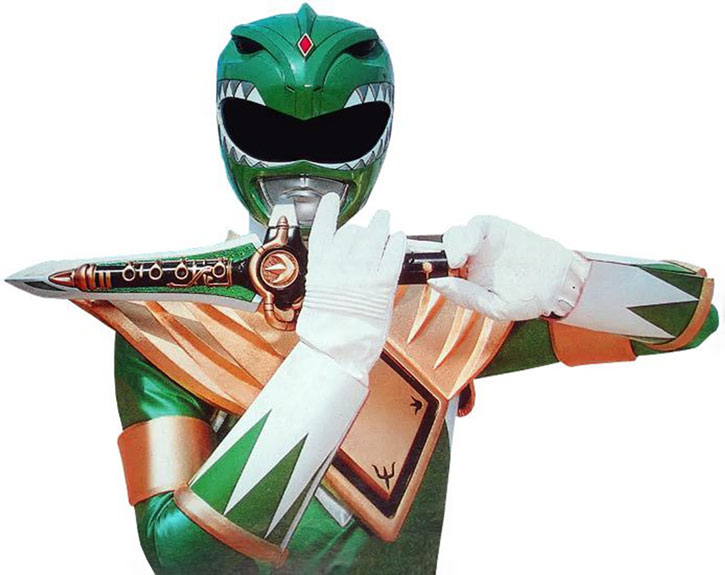 Green Ranger (Tommy Oliver) of the Mighty Morphin' Power Rangers - playing the dagger flute