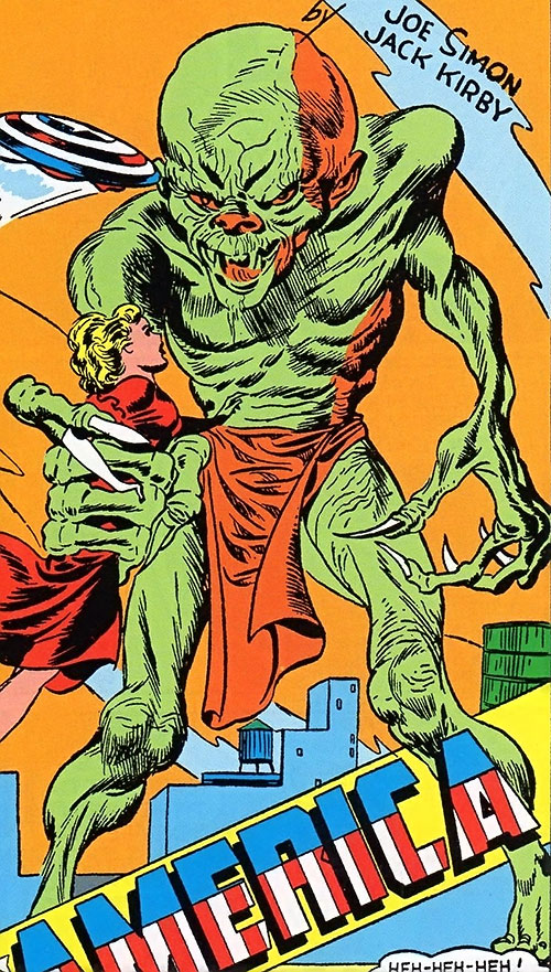 Green Tibetan / Oriental Giants (Captain America enemies) (Golden Age Timely Comics)