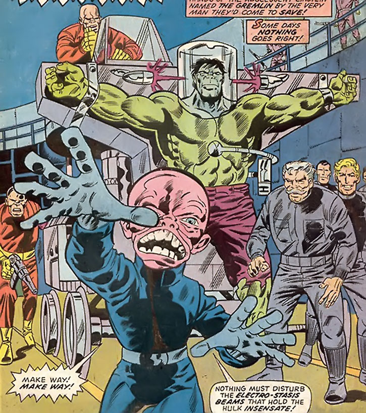 The Gremlin (Kondrati Topolov) and a captured Hulk