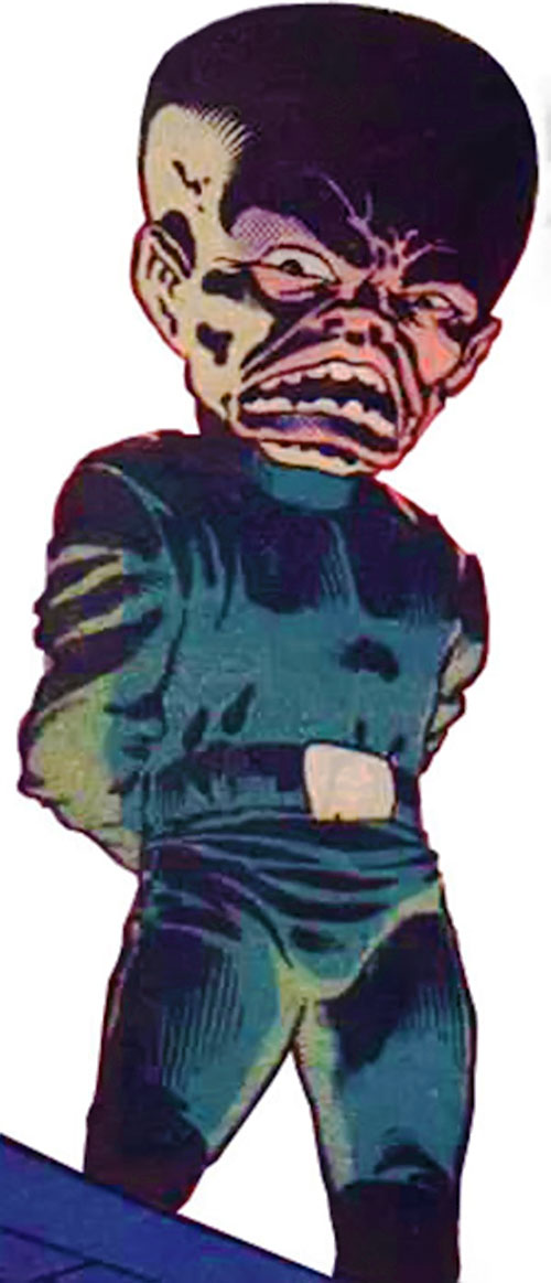 Gremlin (Marvel Comics) looking ominous in shadows