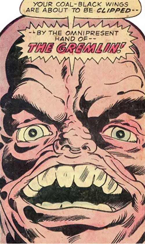 Gremlin (Marvel Comics) face closeup