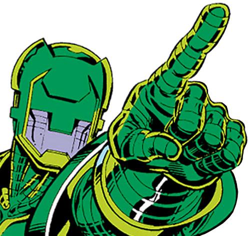 Gremlin in his Titanium Man armor (Marvel Comics) closeup