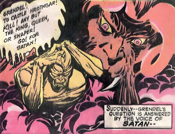 Grendel receives his orders from Satan