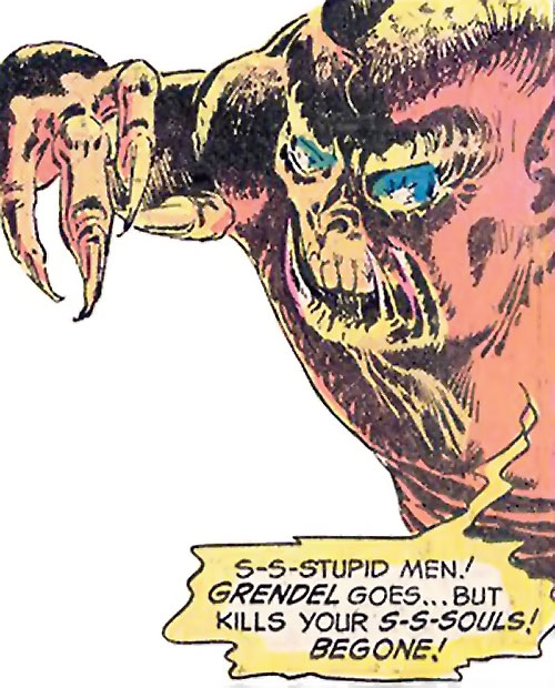 Grendel (Beowulf / Wonder Woman enemy) (DC Comics) readying his claws