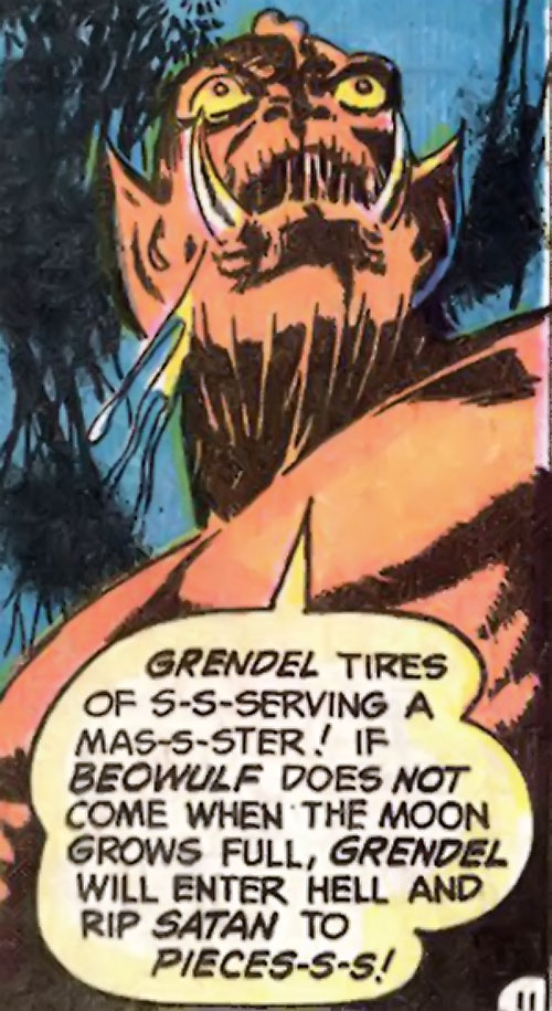 Grendel (Beowulf / Wonder Woman enemy) (DC Comics) low angle shot