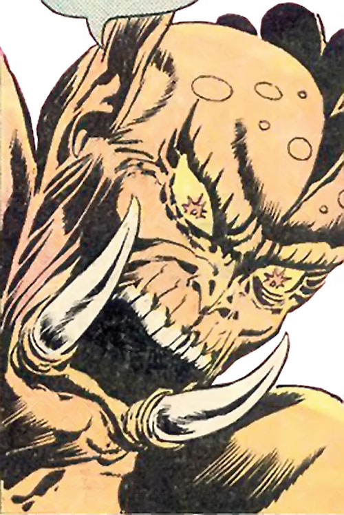 Grendel (Beowulf / Wonder Woman enemy) (DC Comics) furious