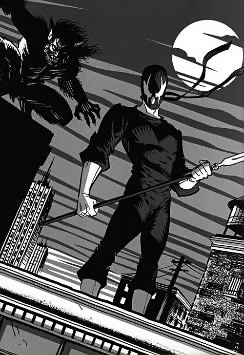 Grendel (Hunter Rose) black and white art