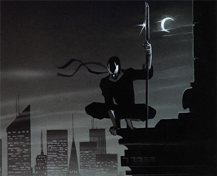 Grendel (Matt Wagner's) above the city
