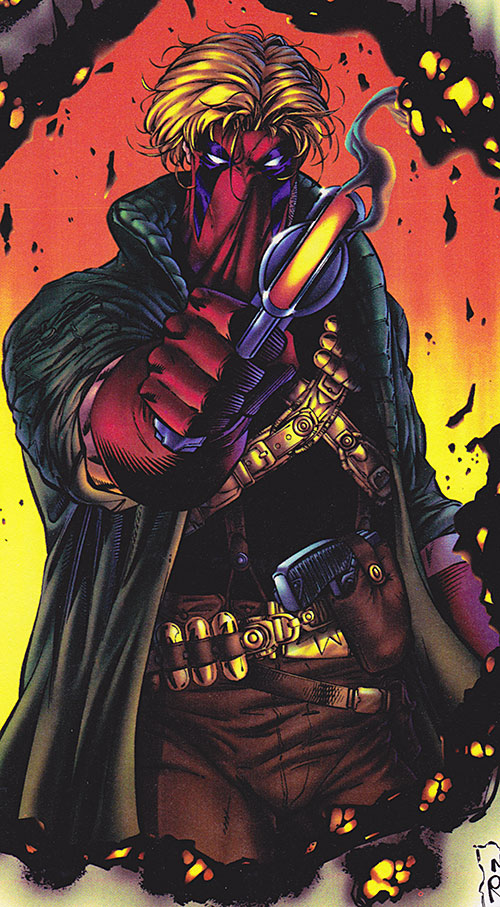 Grifter of the WildCATs (Image Comics) pointing an energy pistol
