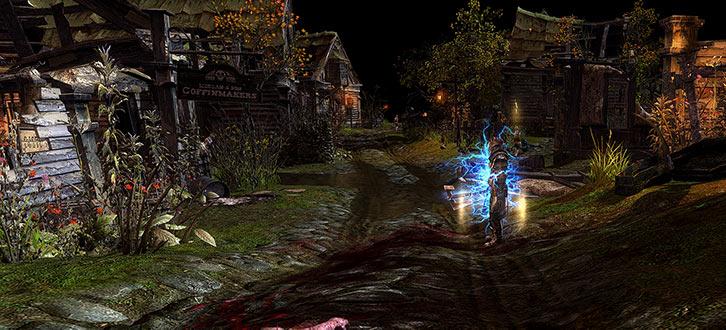 Grim Dawn - Game screenshot - Coffinmakers in Lower Crossing