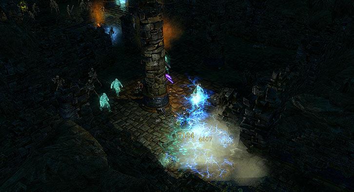 Grim Dawn - Fight in the Old Arkovian underground - Lightning