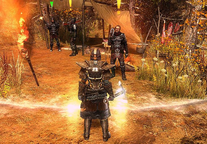 Grim Dawn video game - Marksmen of the Black Legion wilderness camp
