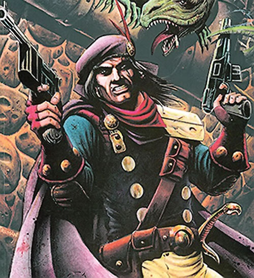 Grimjack (early comics) dual-wielding pistols