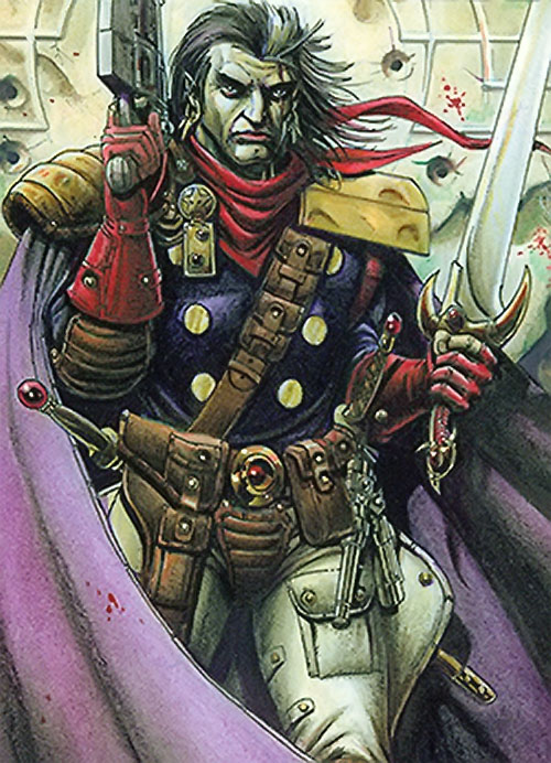 Grimjack (early comics) heavily armed