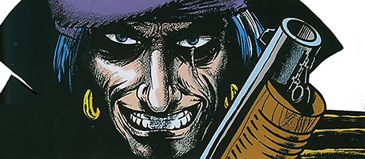 Grimjack grinning with a shotgun