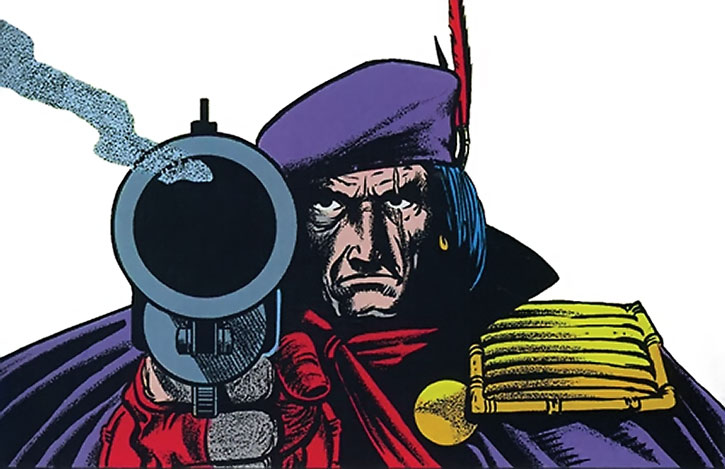 Grimjack portrait with smoking gun