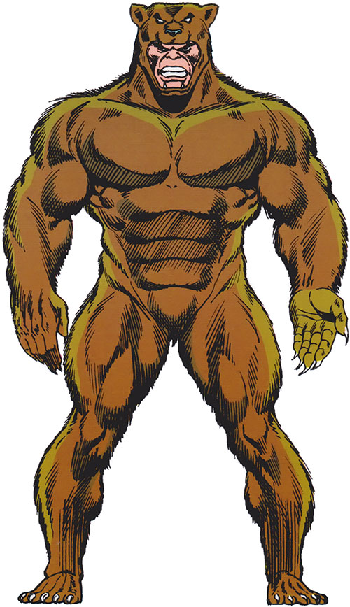 Grizzly (Marvel Comics) from the Master Edition of the handbook