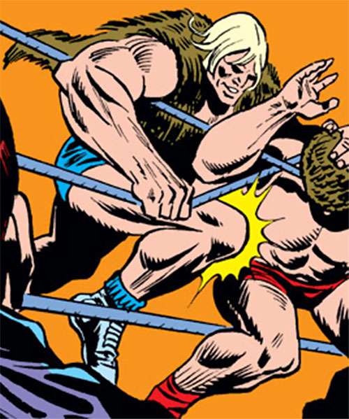 Grizzly (Marvel Comics) as a wrestler in the ring