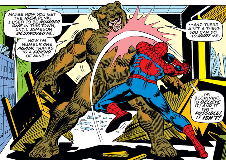 The Grizzly (Maxwell Markham) vs. Spider-Man