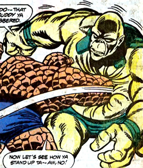 Gronk of the Minions of Maelstrom (Marvel Comics) vs. the Thing