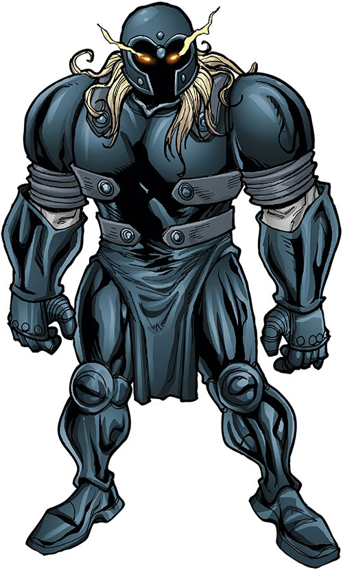 Grotesk (Marvel Comics) as a possessed armor suit