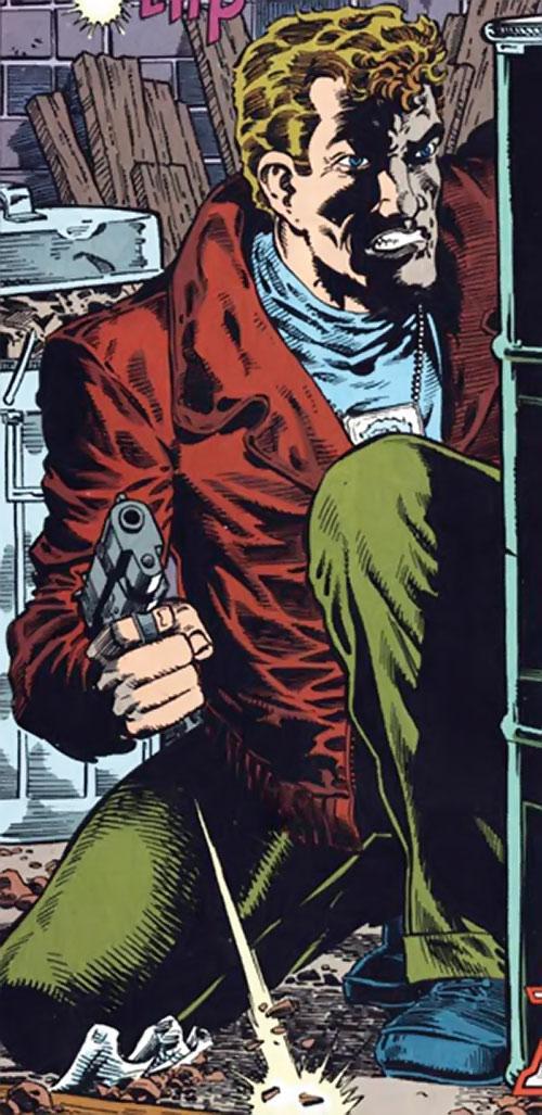 Groundhog of Alpha Flight (Marvel Comics) (Benard) in a gunfight