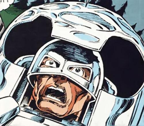 Groundhog of Alpha Flight (Marvel Comics) (Benard) helmet closeup