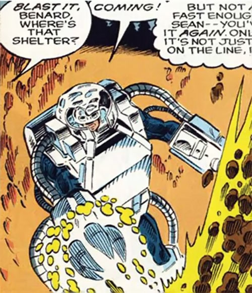 Groundhog of Alpha Flight (Marvel Comics) (Benard) digging a pit