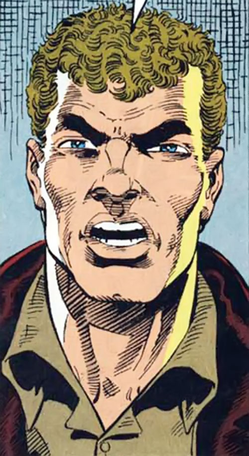 Groundhog of Alpha Flight (Marvel Comics) (Benard) face closeup