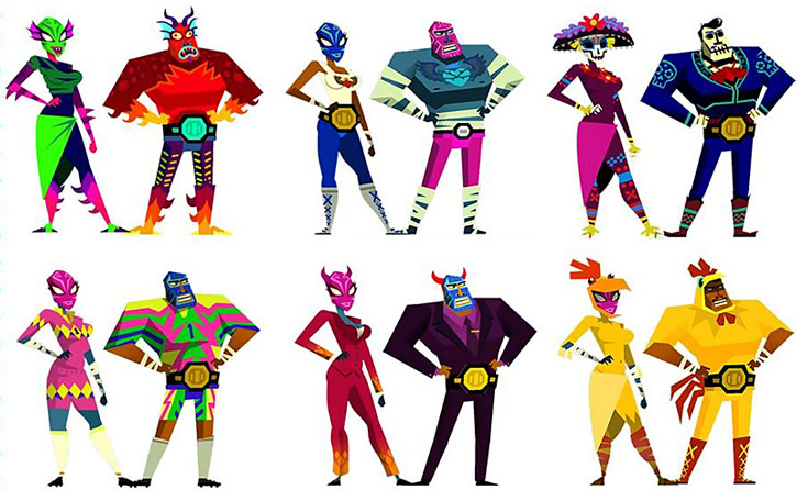 Guacamelee costumes sheet