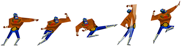 Sprites for the Luchador