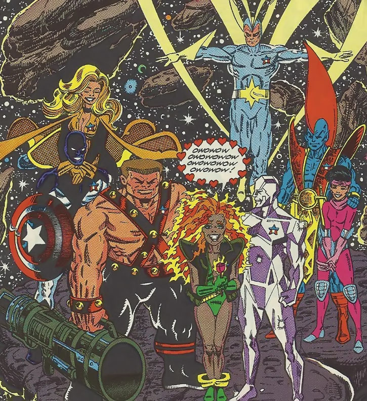 Nikki and the Guardians of the Galaxy during the 1990s
