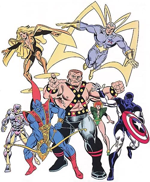 Guardians of the Galaxy team (original Marvel Comics version) TSR art