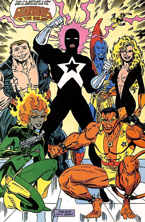 Guardians of the Galaxy team (original Marvel Comics version) during the 1990s