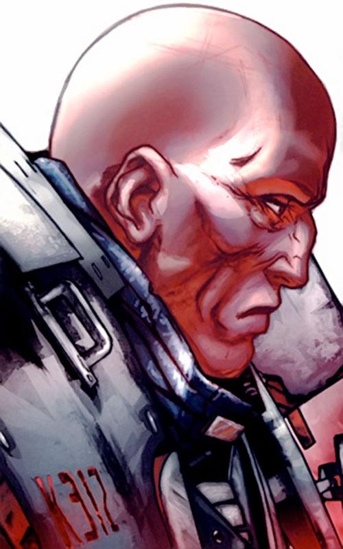 Guardsman Kyuzo (Red Star comics) face closeup side angle