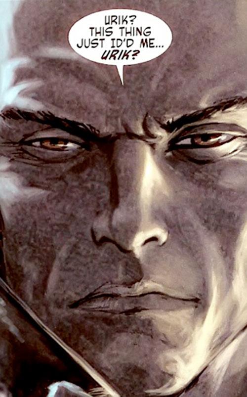 Guardsman Kyuzo (Red Star comics) face closeup
