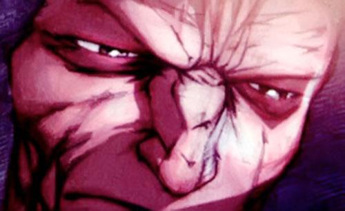 Guardsman Kyuzo (Red Star comics) eyes closeup