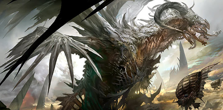 Guild Wars 2 - Zhaitan death dragon and pact airships