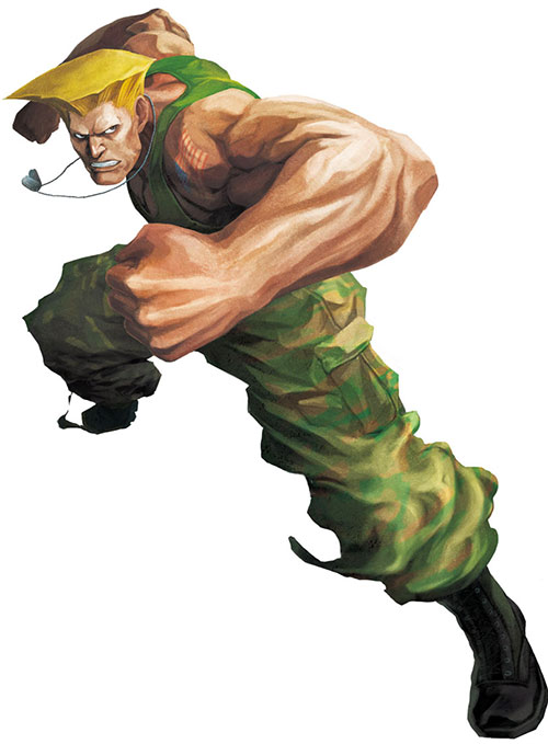 Guile from Street Fighters