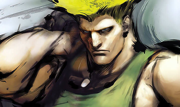 Guile painted portrait