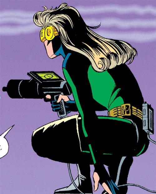 Gunbunny (Gunhawk ally) (DC Comics) with a rangefinder