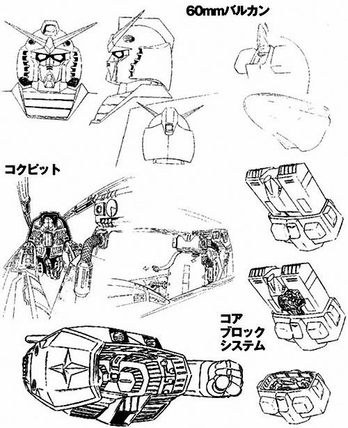 Gundam RX 78 schematics 2/2